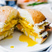 Smoked Salmon Egg Sandwich with Caper Cream Cheese