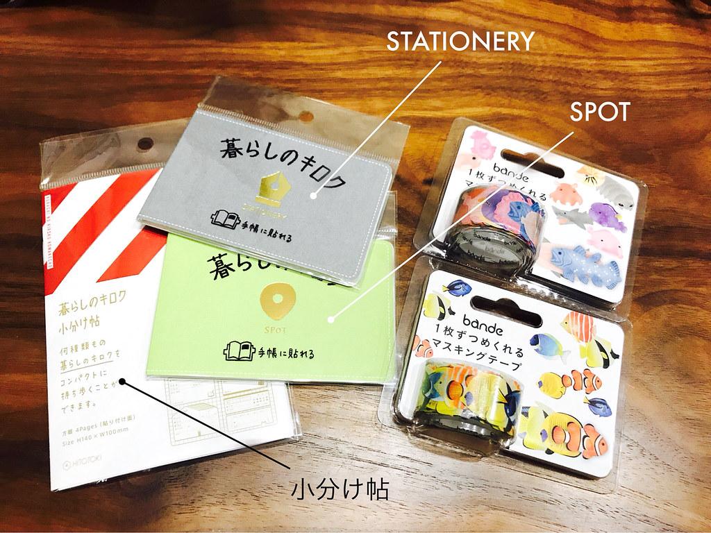 暮らしのキロク STATIONERY SPOT 小分け帖