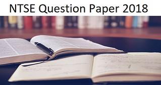 NTSE Question Paper 2018