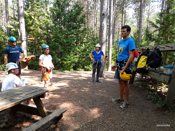 Treetop Trekking safety orientation