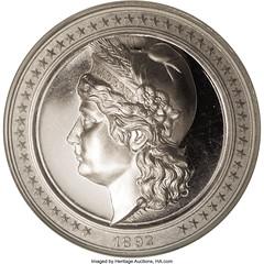 1892 Columbian Exposition Dollar HK-222 obverse