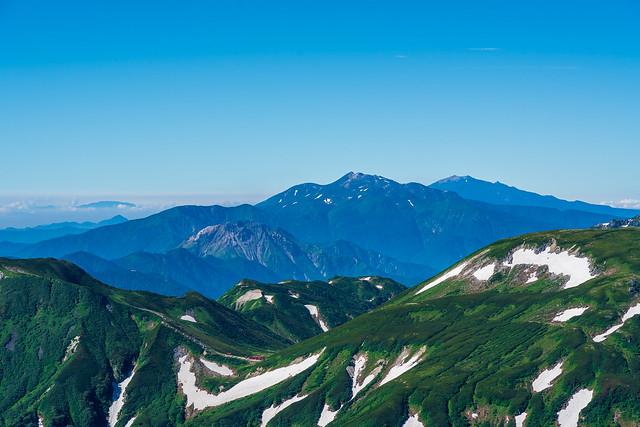 焼岳、乗鞍岳、御嶽山、、恵那山も@鷲羽岳