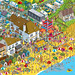 Seaside - Daily Mail Great Summer £125,000 Treasure Hunt - isometric pixel art illustration by Rod Hunt