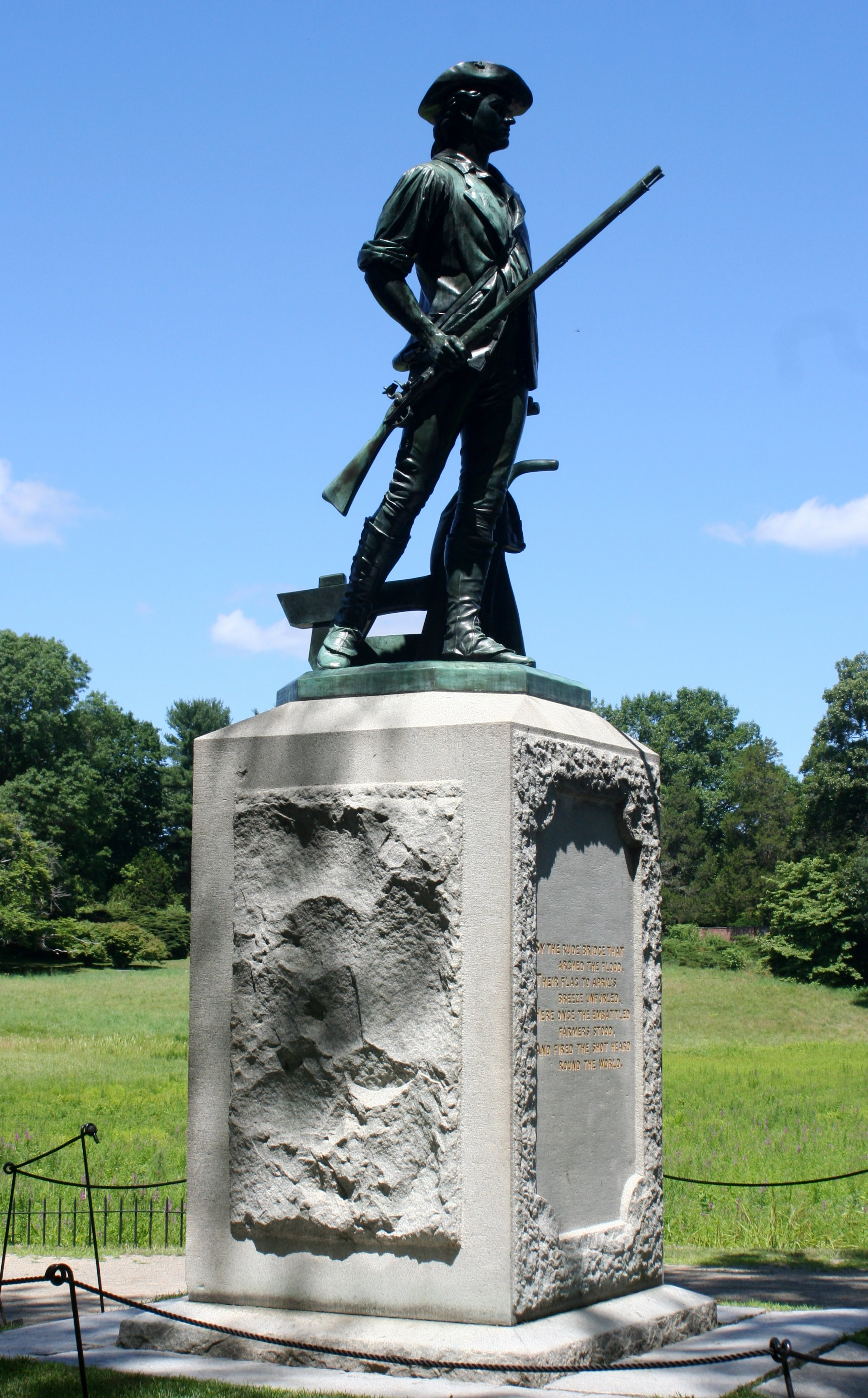 The Minute Man, statue by Daniel Chester French, at the Old North Bridge, Concord, Massachusetts. Photo taken on July 12, 2007.