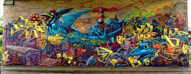 Graffiti 2017 in Mainz-Kastel