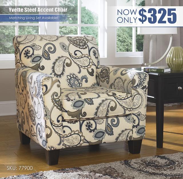 Yvette Steel Accent Chair_77900-21