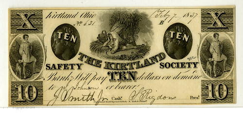 Lot 580. Ohio. Kirtland Safety Society Bank 1837 $10 Issued Obsolete Banknote