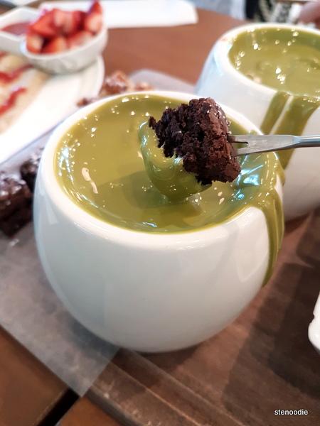 Matcha Chocolate Fondue