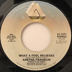ARETHA FRANKLIN:WHAT A FOOL BELIEVES(LABEL SIDE-A)