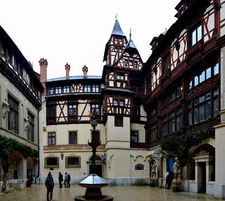 Inner Courtyard of Peleș Castle