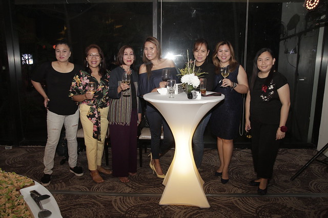 The ladies of Davao media during the Pre-Kadayawan Party