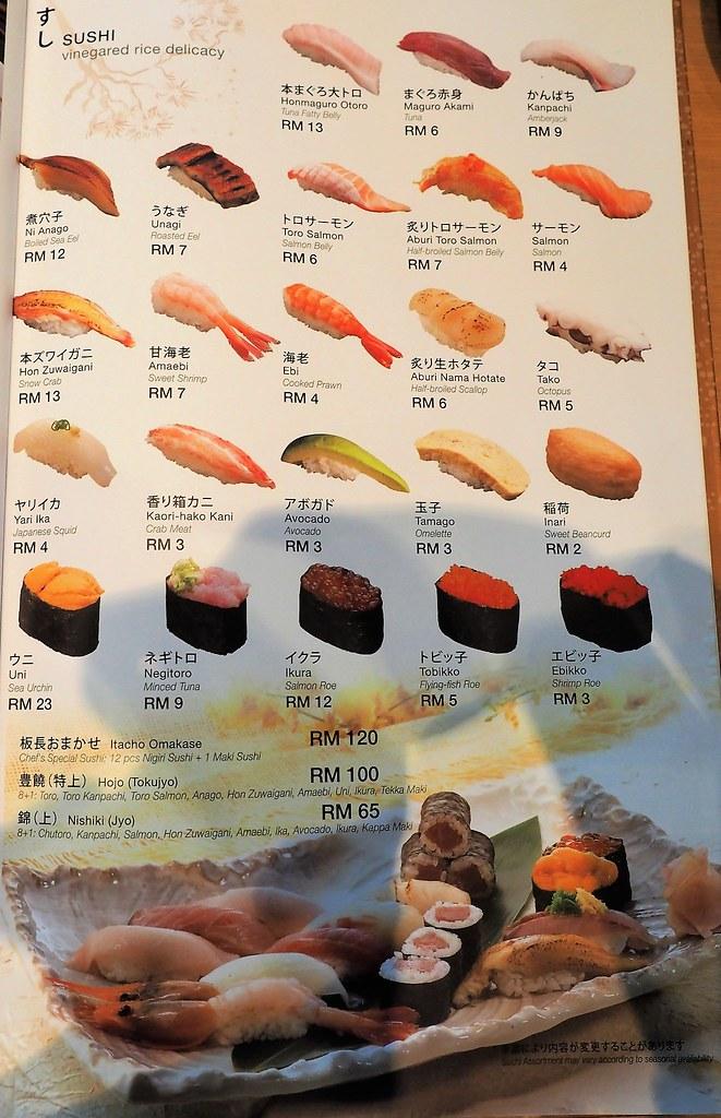 Sushi (Vinegared Rice Delicacy) at Rakuzen Japanese Restaurant at 3 Damansara, Petaling Jaya