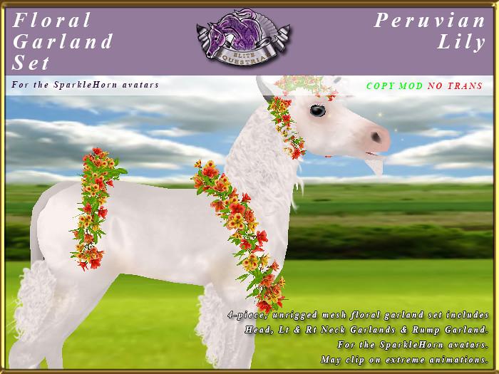 E-SparkleHorn-GarlandSet-PeruvianLily - TeleportHub.com Live!