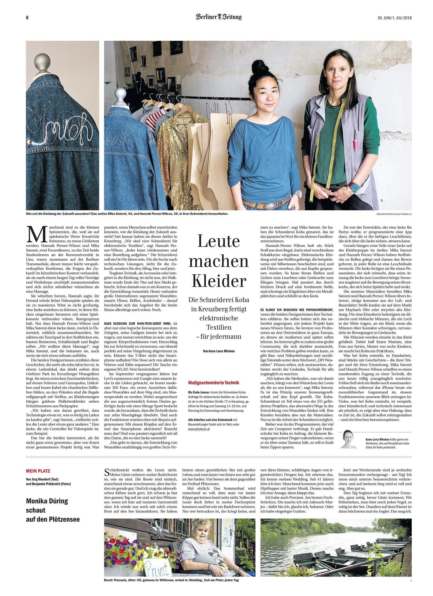 Berliner Zeitung: Leute machen Kleider