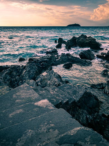 Sunset in Diamante - Calabria, Italy - Seascape photography