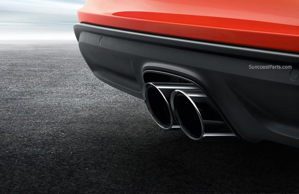 718 porsche boxster cayman exhaust tip black gts sport