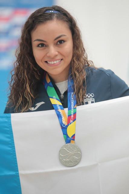 Premiación ráquetbol, medallas de plata