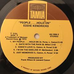 EDDIE KENDRICKS:PEOPLE...HOLD ON(LABEL SIDE-B)