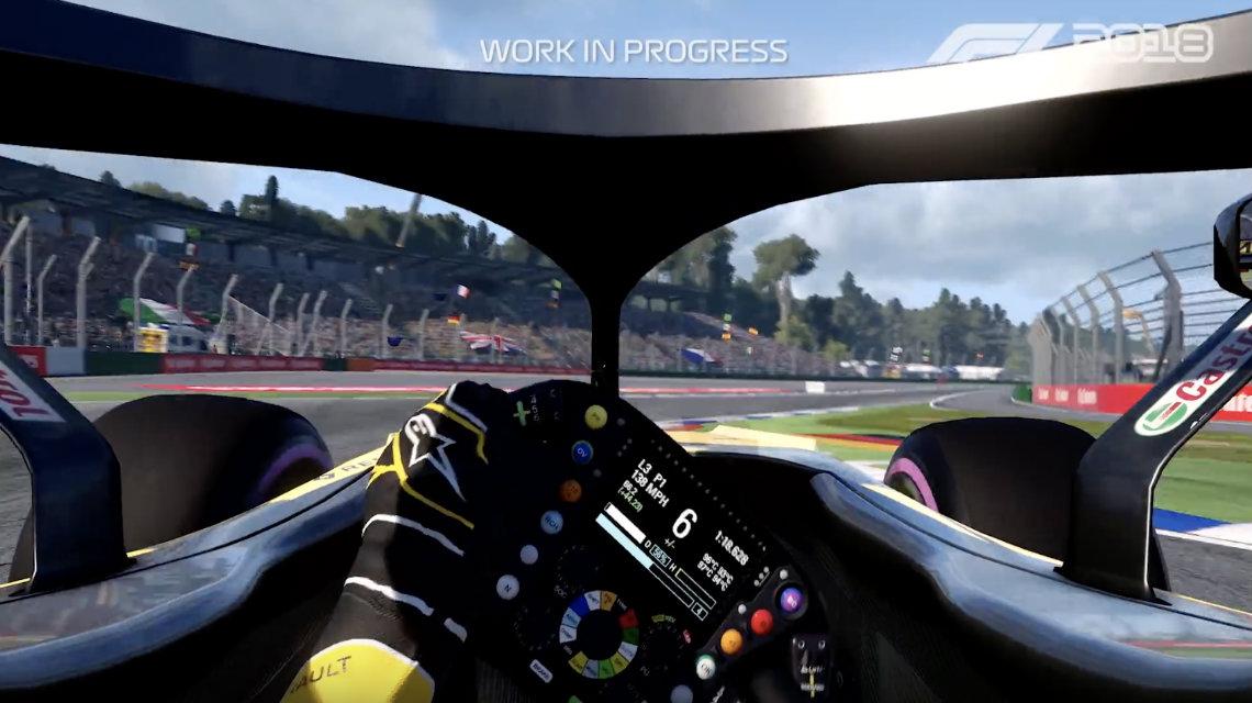 F1 2018 gameplay videosu - Hockenheimring turu