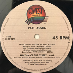 PATTI AUSTIN:RHYTHM OF THE STREET(LABEL SIDE-A)