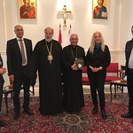 Patriarch Youssef AbsÇ with Metropolitan Haddad welcoming Vassula and TLIG group