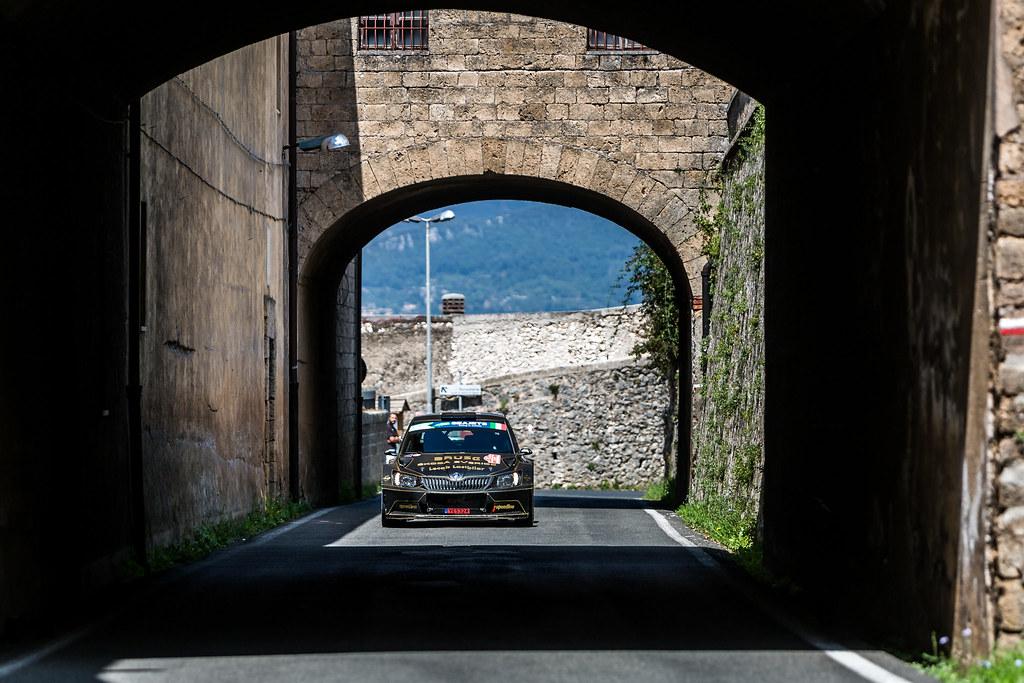 10 Fredrik Ahlin (SWE), Joakim Sjoberg (SWE), SKODA FABIA R5, action during the 2018 European Rally Championship ERC Rally di Roma Capitale,  from july 20 to 22 , at Fiuggi, Italia - Photo Thomas Fenetre / DPPI