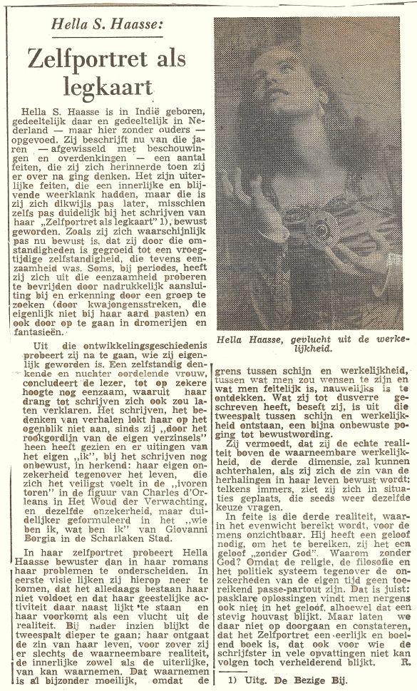 HellaSHaasseZelfportretAlsLegkaartKrantOnbekendSchrijverRBoekZelfportretAlsLegkaart1954Fase1 (2)