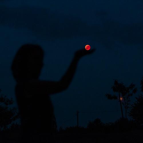 Eclipse de Lune, sans trucage