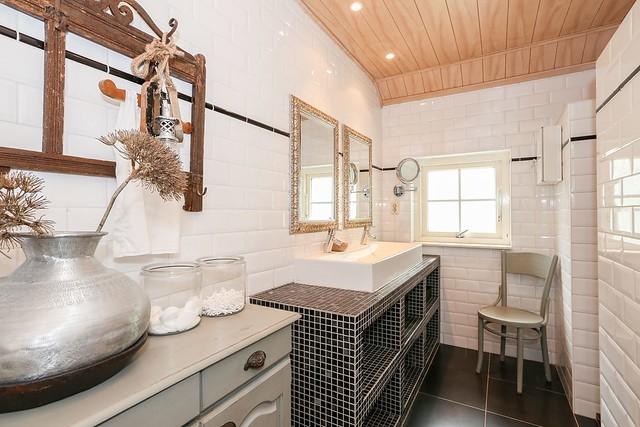 Badkamer woonboerderij landelijke stijl