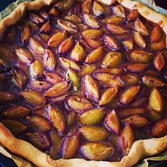Spiced plum tart #plumharvest