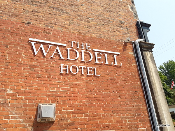 The Waddell Hotel sign