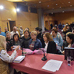 Cyprus 2018-Vassula talks to several people from the audience after signing their books