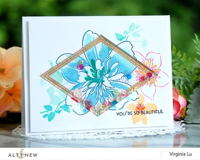 Altenew-FloralArt-GeoFrameStampDie-Virginia#4