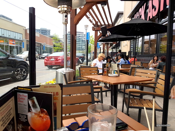 Jack Astor's patio at Shops at Don Mills