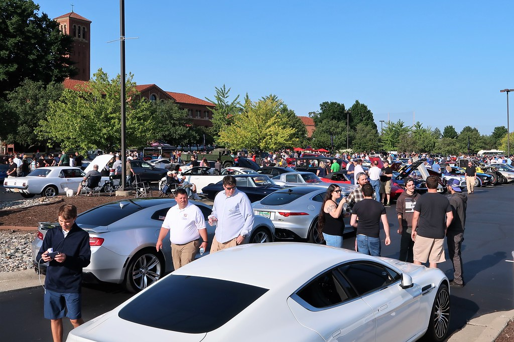 2018 Cars and Coffee at Concours d'Elegance of America, Inn at St. Johns, Plymouth, MI - 7/28/18