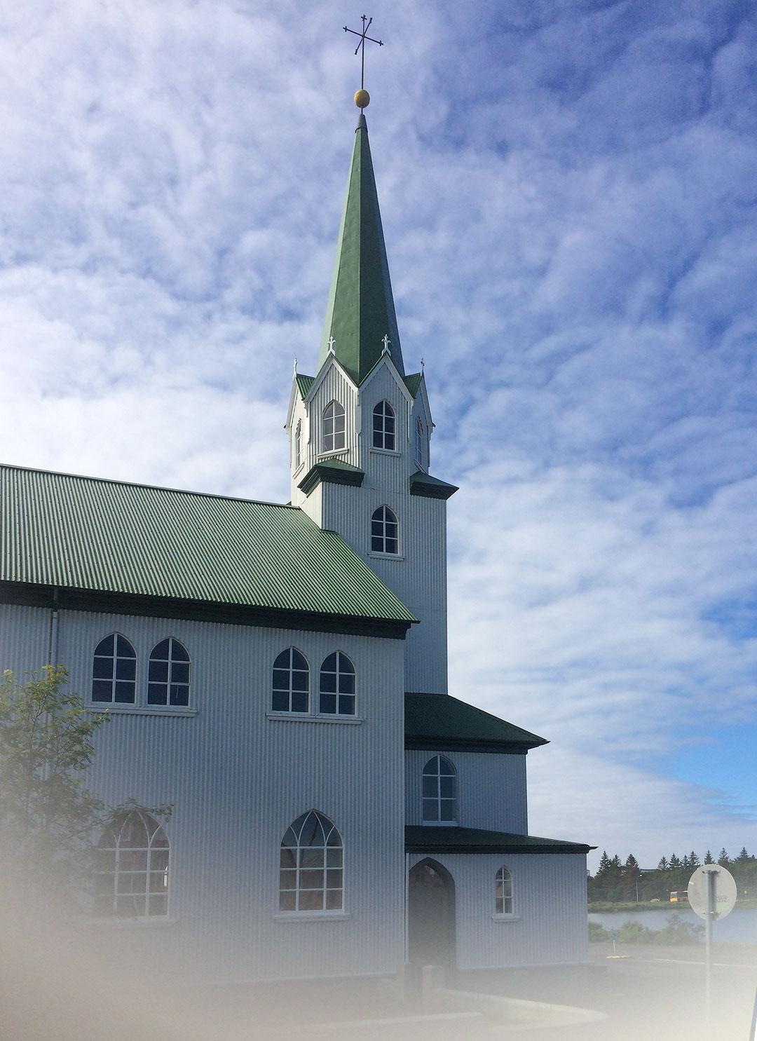 Fríkirkjan church in Reykjavik