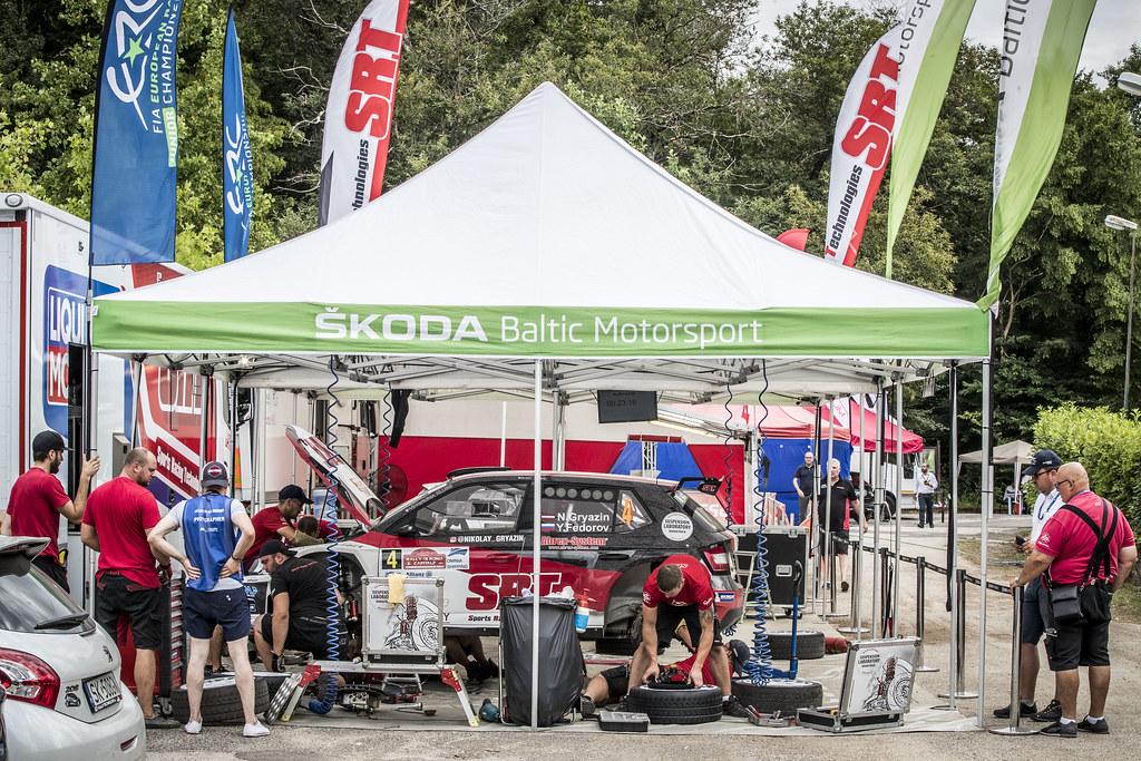 04 Nikolay Gryazin (LVA), Yaroslav Fedorov (RUS), Sport Racing Technologies, SKODA FABIA R5, during the 2018 European Rally Championship ERC Rally di Roma Capitale,  from july 20 to 22 , at Fiuggi, Italia - Photo Gregory Lenormand / DPPI