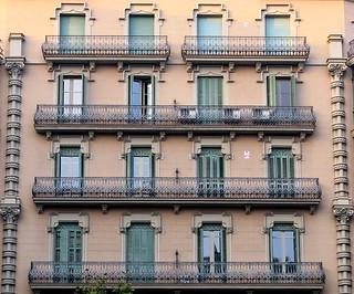 Windows and balconies, Barcelona
