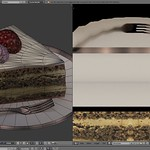 Strawberry Cheese Slice Blender 3D