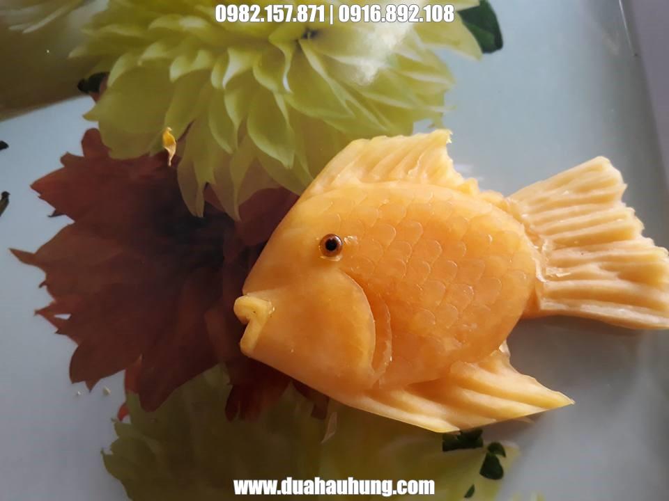 Tạo hình cá từ quả bí ngô ngộ nghĩnh