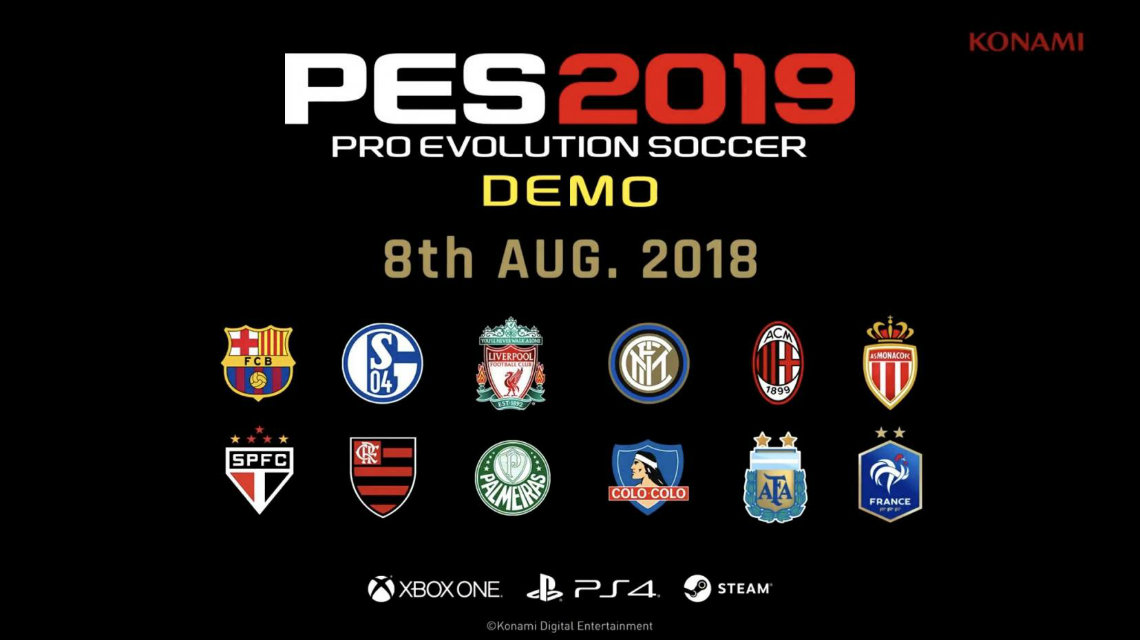 PES 2019 Demo ve myClub trailer
