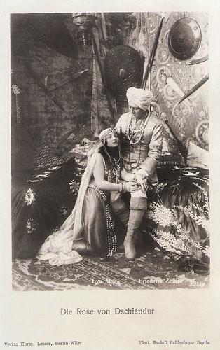 Lya Mara and Friedrich Zelnik in Die Rose von Dschiandur (1918)