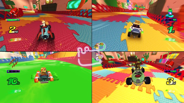 Nickoledon Kart Racer - 4-Player Split-Screen