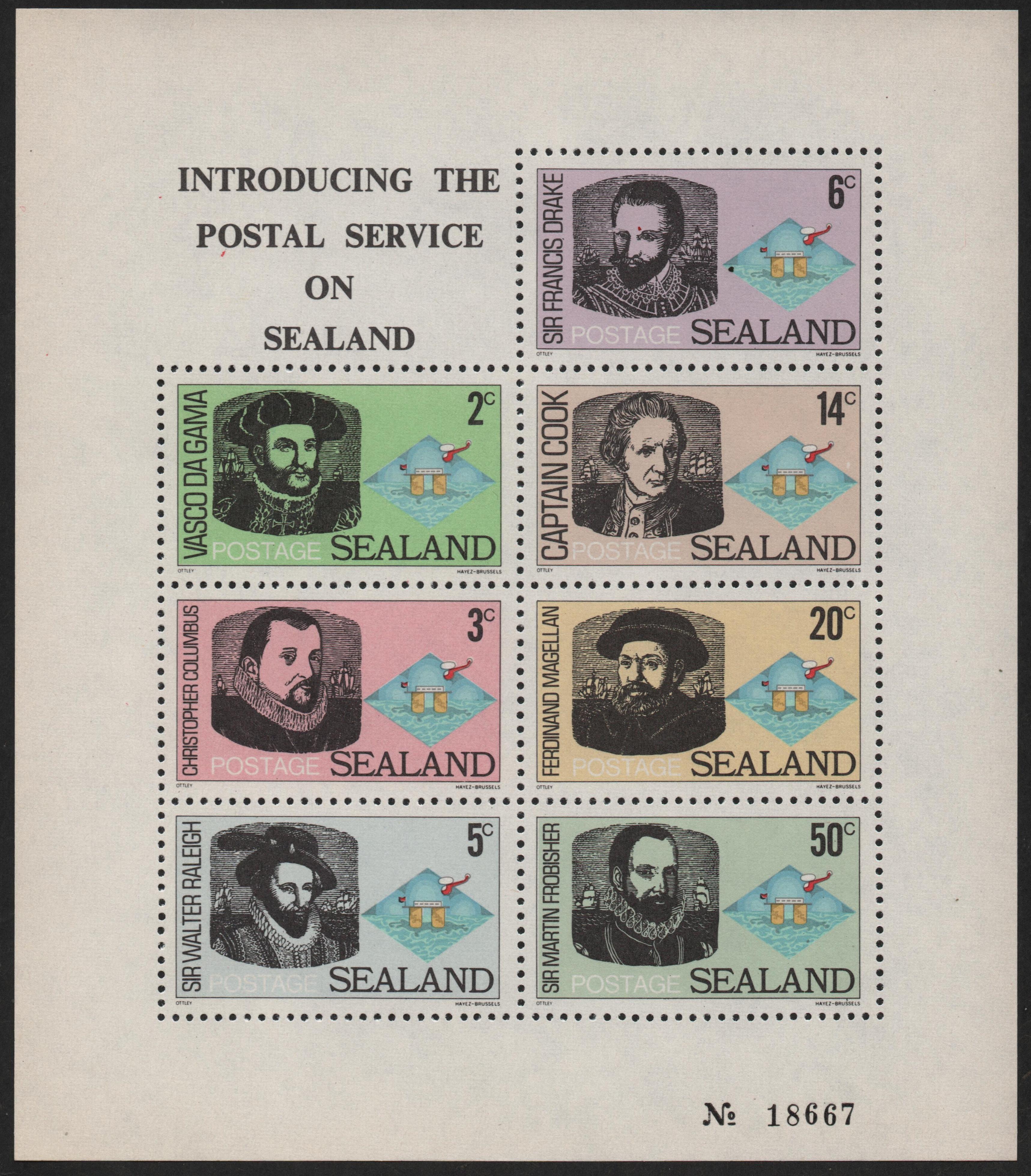 Sealand - Issue #1 (1969) souvenir sheet