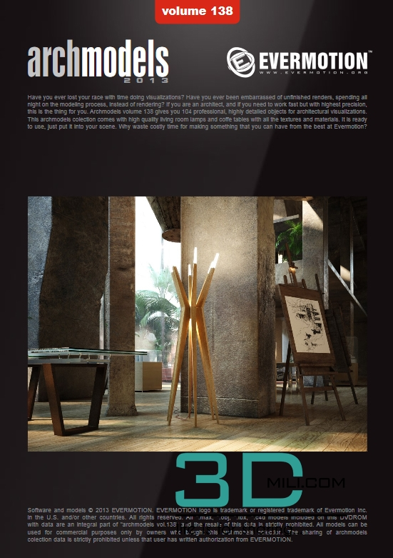 Evermotion Archmodels Vol 138: Lamps & coffee tables - 3D Mili