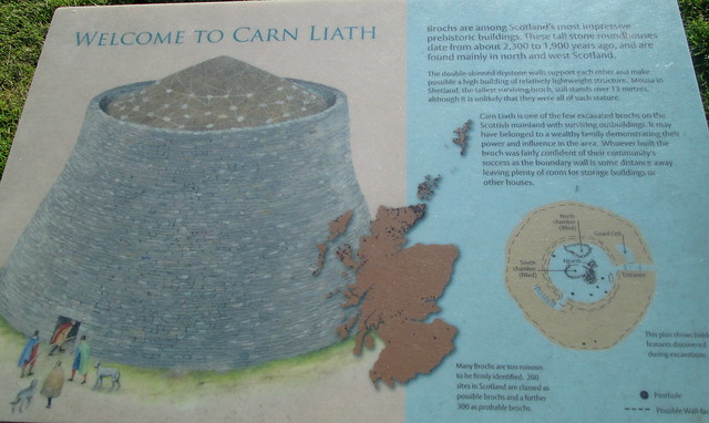Càrn Liath Broch Information Board