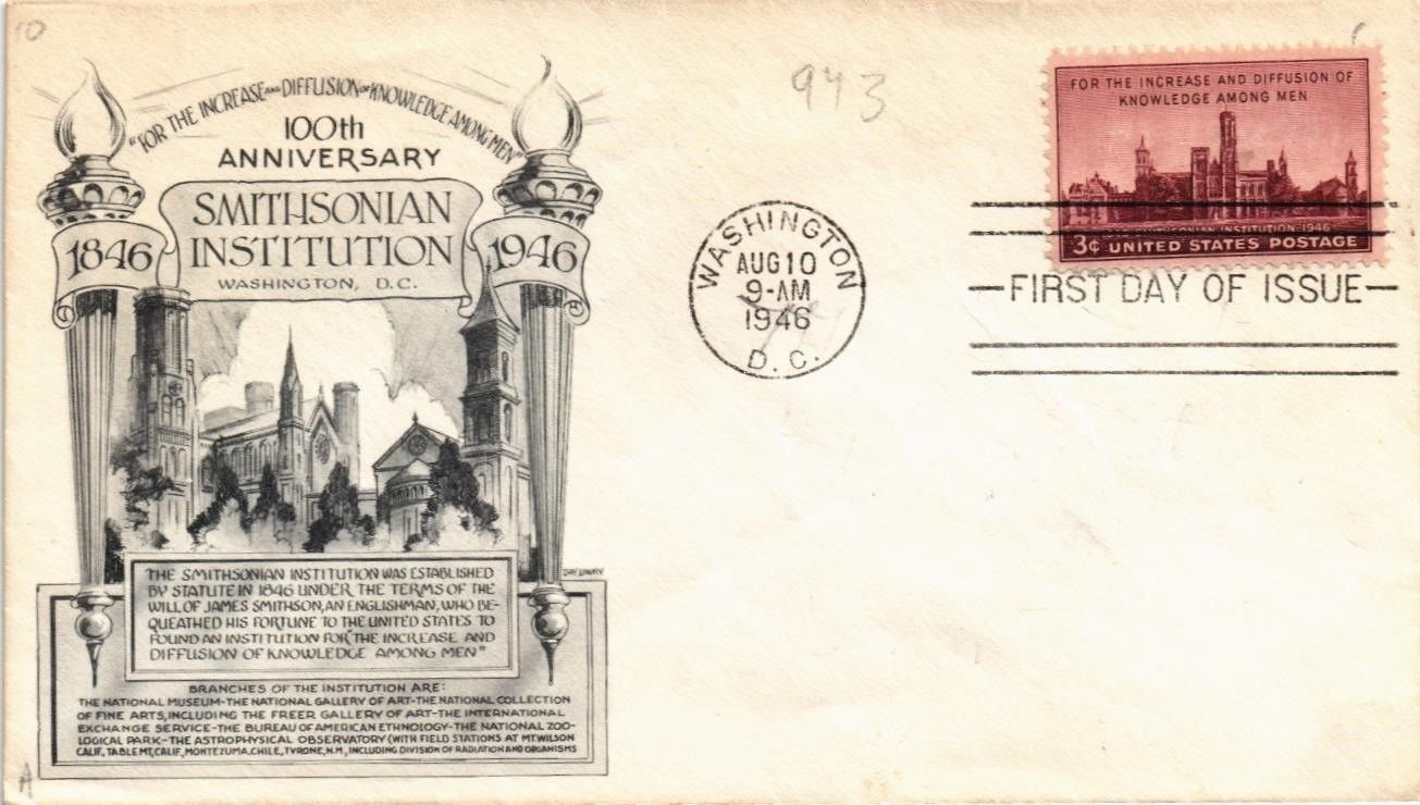 United States - Scott #943 (1946) first day cover
