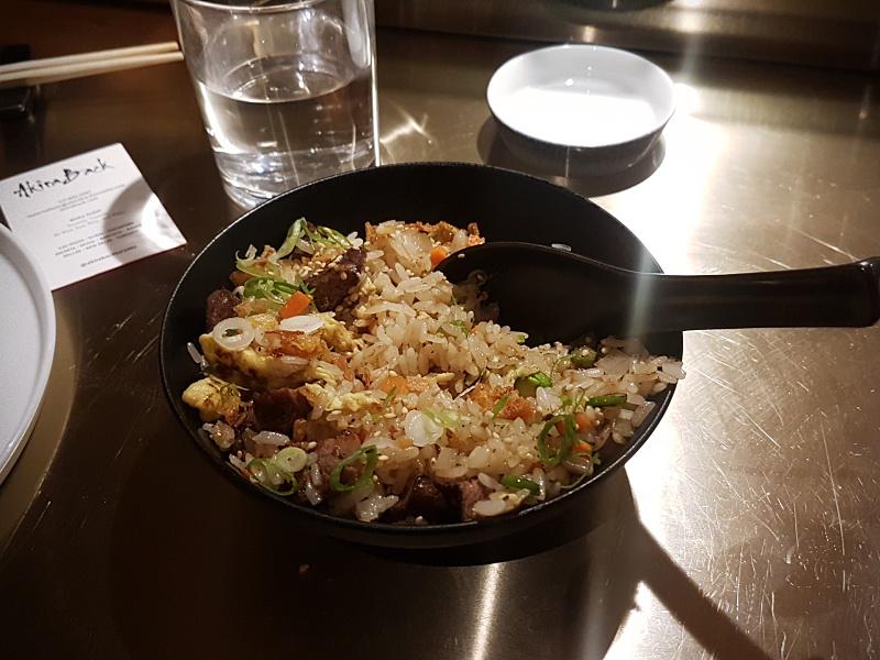 Akira Back wagyu rice