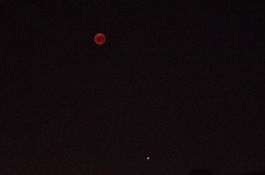 Roter Mond und roter Mars - red moon and red mars
