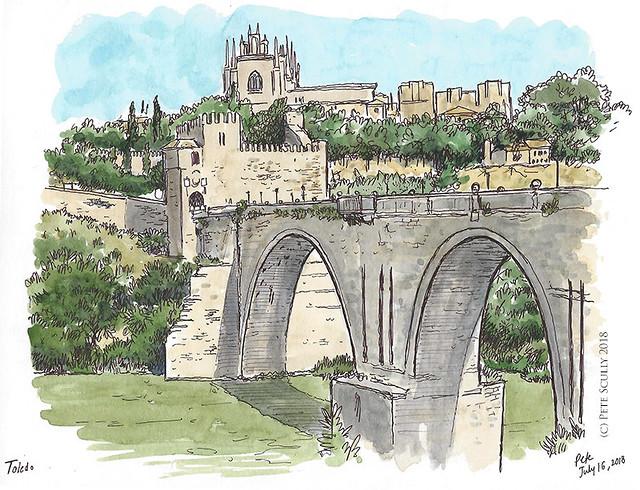Toledo Puente de San Martin